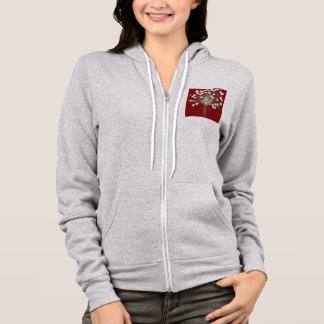 Bouquet Of Daisies Bouquet of Daisy Red Background Hoodie
