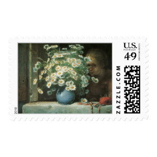 Bouquet of Daisies Fine Art Postage