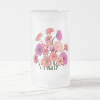 Bouquet of Daisies, Frosted 16oz Frosted Glass Mug