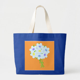 Bouquet of daisy flowers jumbo tote bag