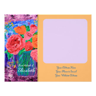 Bouquet of English Roses in Mason Jar Painting Letterhead