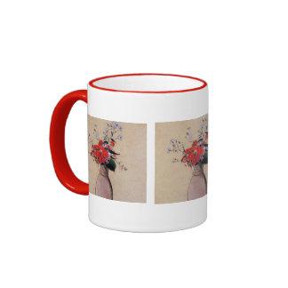 Bouquet-of-flowers 1910 Odilon Redon Vase Art Love Ringer Coffee Mug