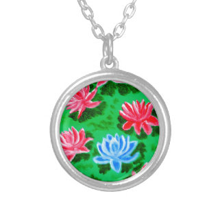 Bouquet of Flowers 5 Silver Plated Necklace