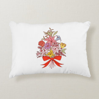 Bouquet of Flowers Accent Pillow