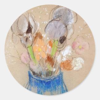 Bouquet of Flowers by Odilon Redon Sticker