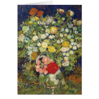 Bouquet of Flowers by van Gogh Stationery Note Card