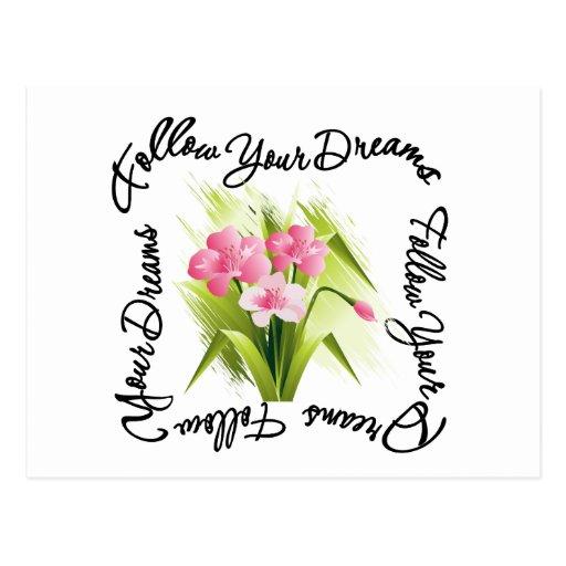 Bouquet of Flowers - Follow Your Dreams Postcard