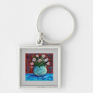 Bouquet of flowers impressionist art keychain