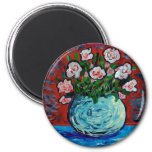 Bouquet of flowers impressionist art refrigerator magnet