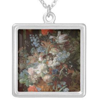 Bouquet of Flowers in a Landscape Custom Jewelry