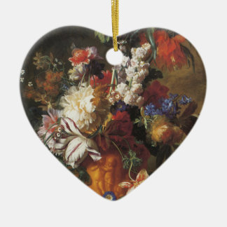 Bouquet of Flowers in an Urn Ceramic Ornament
