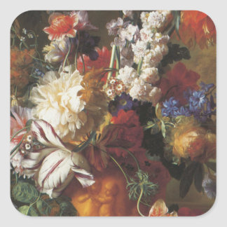 Bouquet of Flowers in an Urn Square Sticker