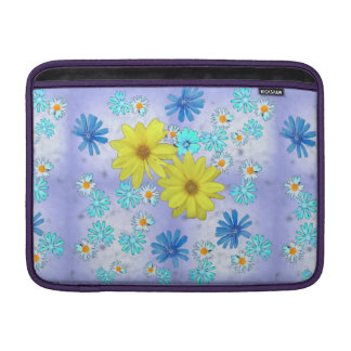 Bouquet of Flowers in Yellow and Blue Sleeve For MacBook Air