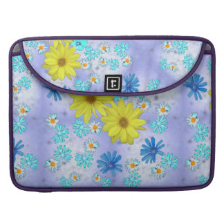 Bouquet of Flowers in Yellow and Blue Sleeve For MacBook Pro
