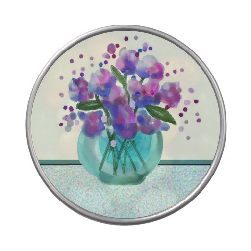 bouquet of flowers jelly belly candy tin
