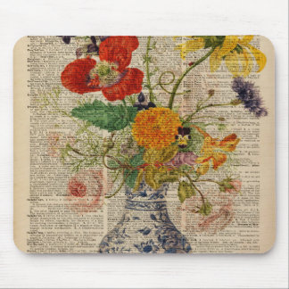 Bouquet of flowers Oil Painting Mouse Pad