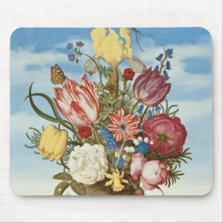 Bouquet of Flowers on a Ledge Mouse Pad