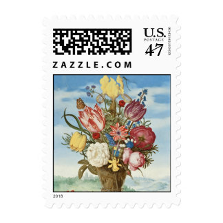 Bouquet of Flowers on a Ledge Postage