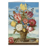 Bouquet of Flowers on a Ledge Stationery Note Card