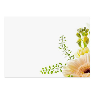 Bouquet of flowers on white background business card template