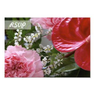 Bouquet of Flowers Photo RSVP Card