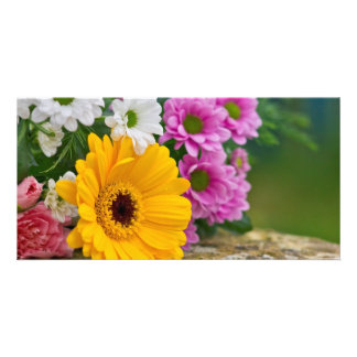 Bouquet of flowers photo card
