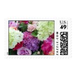 Bouquet of Flowers Summer Rose Hydrangea Peony Stamp