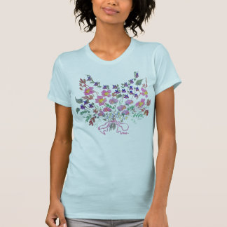 Bouquet of flowers, Sweet peas, Violets, diasies T-Shirt