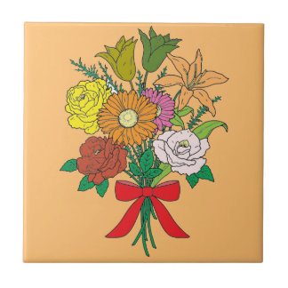 Bouquet of Flowers Tile