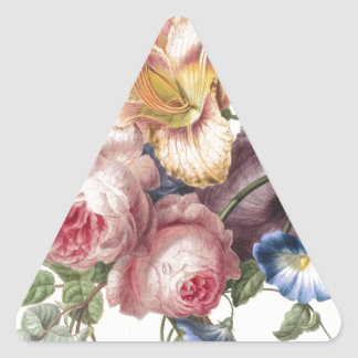Bouquet of Flowers Triangle Sticker