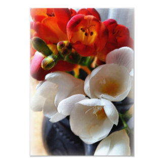 bouquet of freesias card