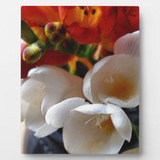 bouquet of freesias plaque