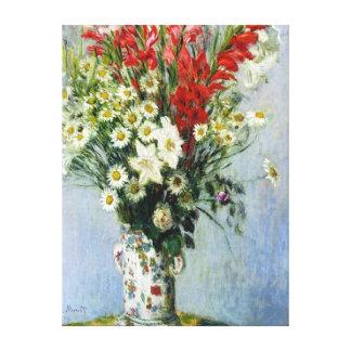 Bouquet of Gadiolas Stretched Canvas Print