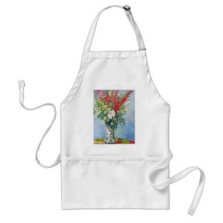 Bouquet of Gadiolas Lilies and Dasies Claude Monet Adult Apron