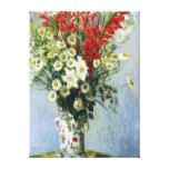Bouquet of Gadiolas Stretched Canvas Print