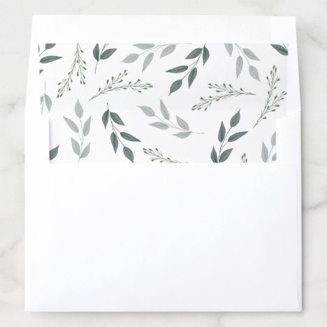 Bouquet of Greenery Envelope Liner