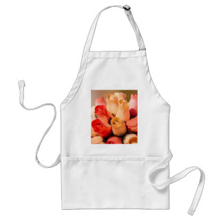 bouquet of handmade roses adult apron