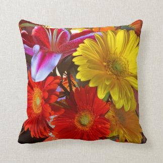 Bouquet of Happy Vivid Pillow