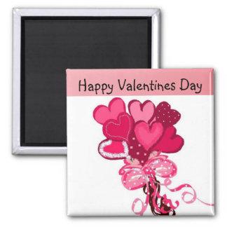 Bouquet of Hearts Fridge Magnet