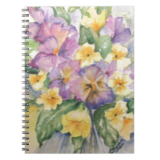 Bouquet of pansies notebook