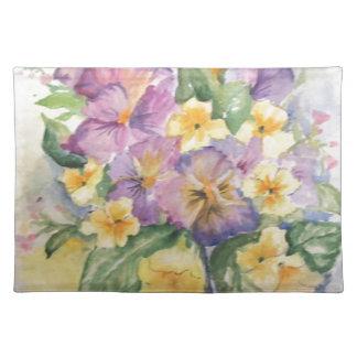 Bouquet of pansies place mat