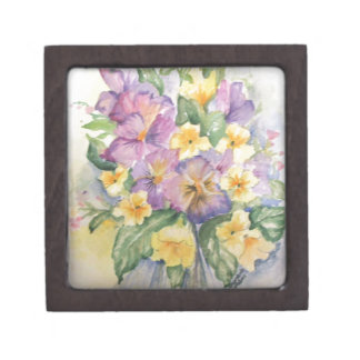 Bouquet of pansies premium gift boxes