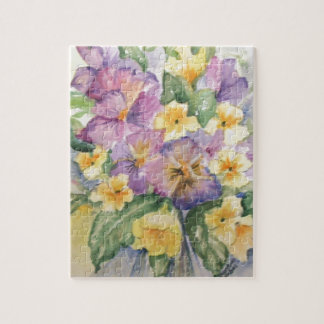 Bouquet of pansies puzzle