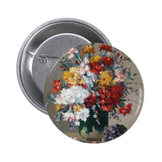 Bouquet of paw Gee of flower and violet Pinback Button