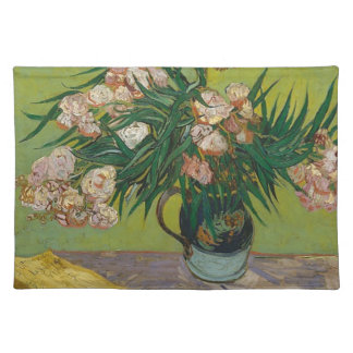 Bouquet of Pink Flowers in Vase Cloth Placemat