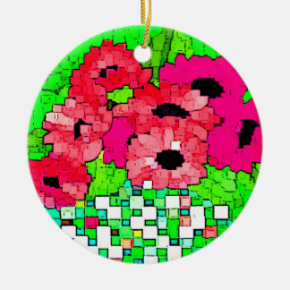 Bouquet of Pink Flowers Ornament