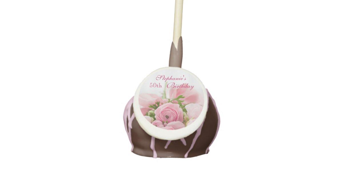 Phenomenal Bouquet Of Pink Roses 50Th Birthday Cake Pops Zazzle Com Funny Birthday Cards Online Inifodamsfinfo