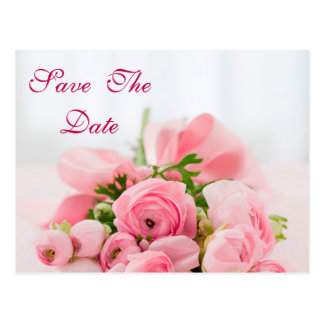 Bouquet Of Pink Roses 80th Birthday Save The Date Postcard