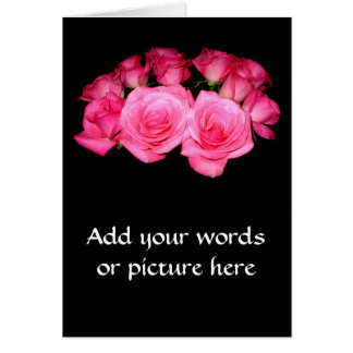 Bouquet of pink roses card