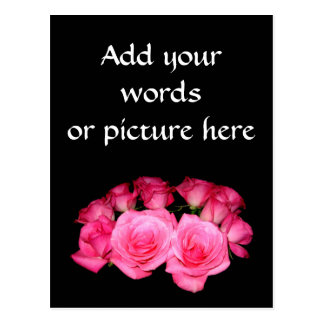 Bouquet of pink roses postcard